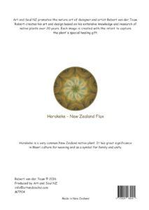 Art & Soul NZ A4 Print Back Flax Light - 28-07-16 PRINT