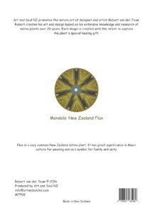 Art & Soul NZ A4 Print Back Flax Moon - 28-07-16 PRINT